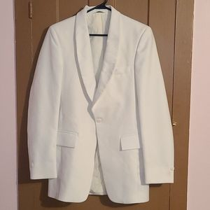 After Formals Six white crisp blazer suit jacket